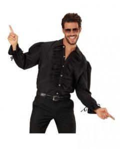 Schwarzes Herrenhemd