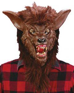 Braune Werwolfmaske