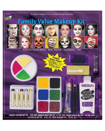 21-teiliges Karneval & Halloween Make-up Set