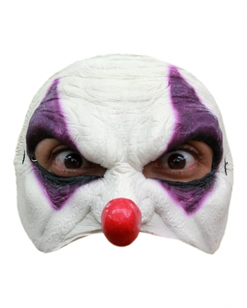 Clown Halbmaske Lila