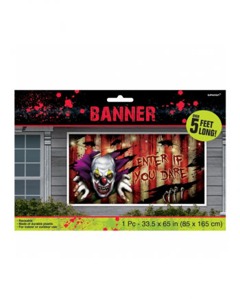 Halloween Banner Creepy Clown