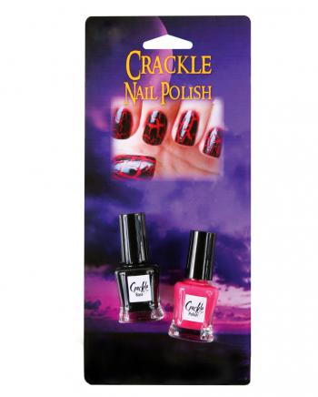 2-tlg. Crackle Nagellack Set