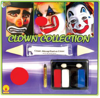 Clown Schmink Set mit Nase
