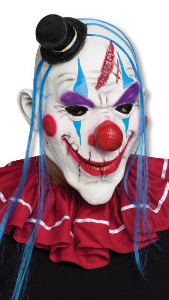 Clown Maske mit Stirnwunde