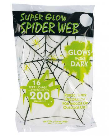 Glow in the Dark'' Halloween Spinnennetz 60gr.''