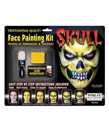Skull Make Up Komplett Set