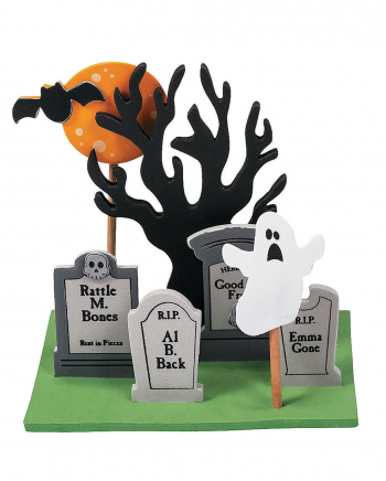 3D Mini Graveyard Steck-Set