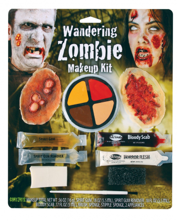 Walking Zombie Make-up Set