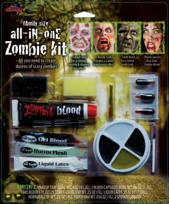12-teiliges Zombie Schmink Set