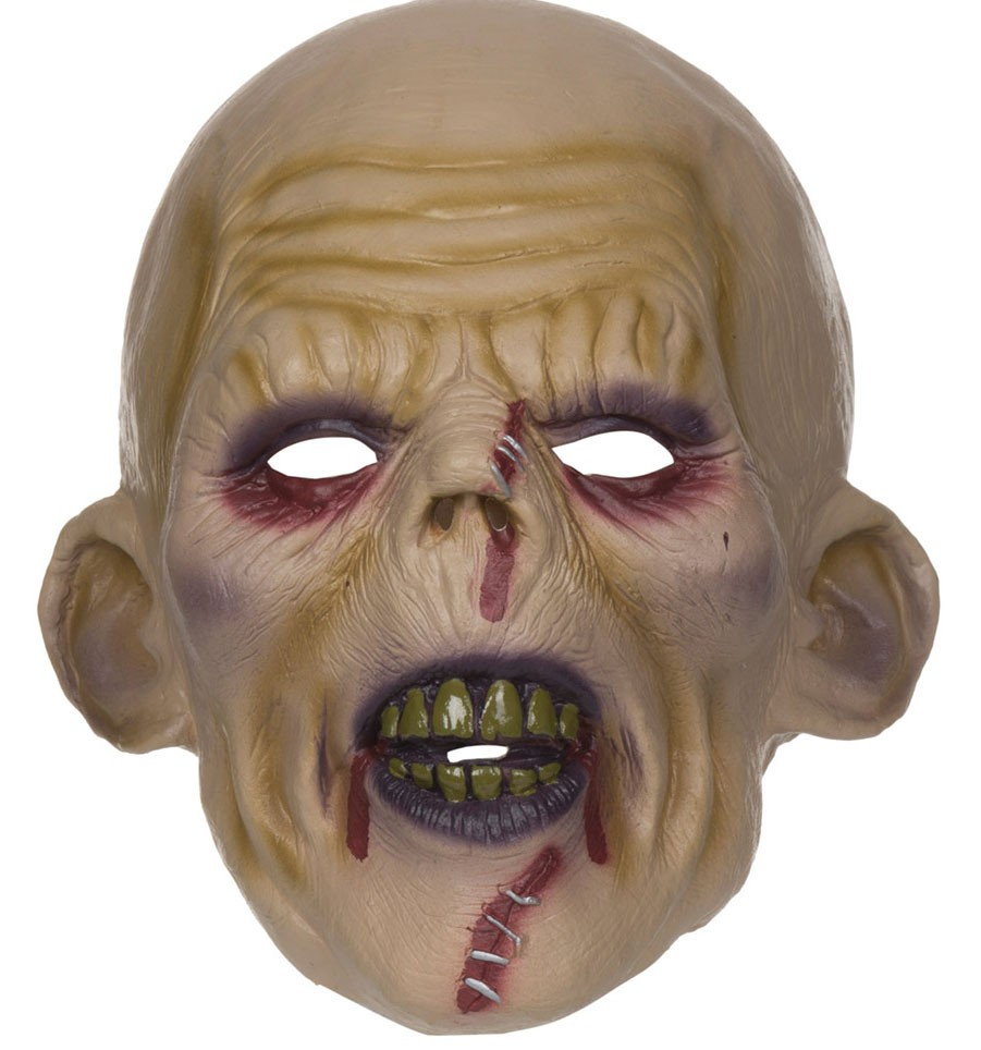 Getackerter Zombie Horror Maske