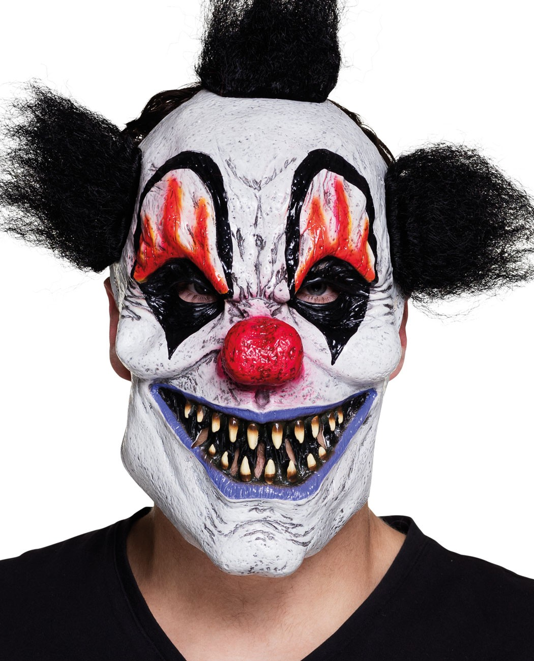 Horror Psycho Clown Maske mit Haaren