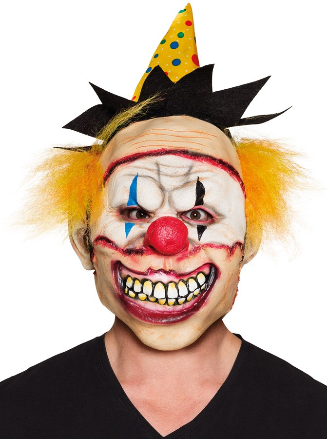 Freaky Horror Clown Maske