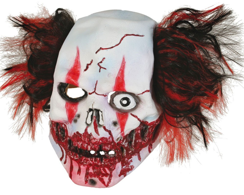 Einäugige Horror Clown Maske Deluxe